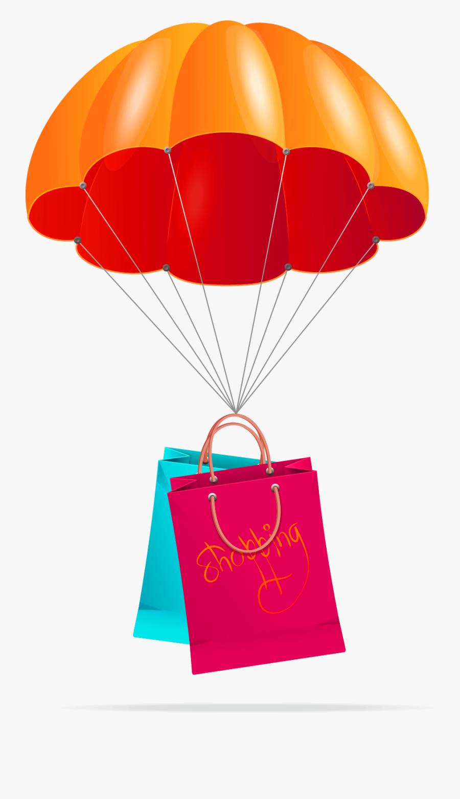 Parachute Clipart Clip Art - 降落傘 卡通, Transparent Clipart