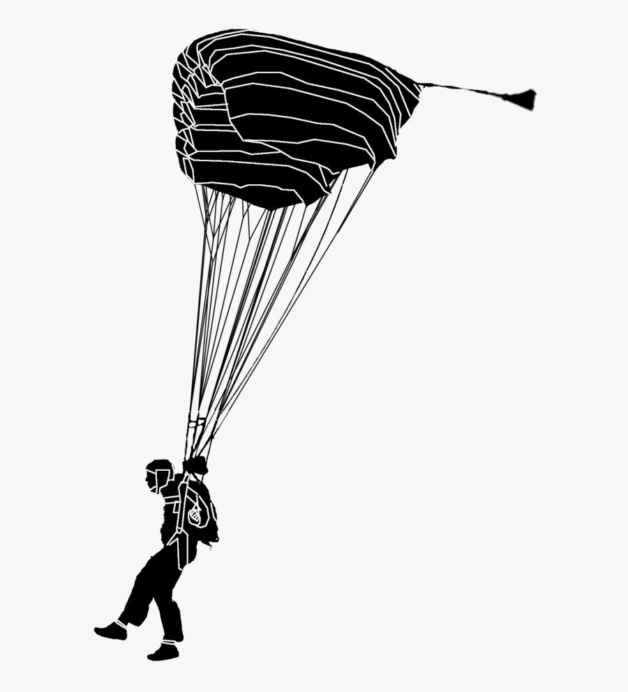 Parachute - Skydiver Png, Transparent Clipart