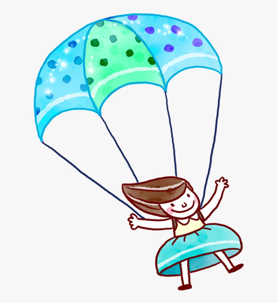 Parachute Clipart Lander - Cartoon Parachute Drawing, Transparent Clipart