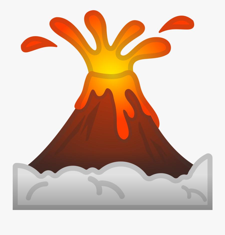 Clip Art Cartoon Volcanoes Volcano Emoji Free Transparent