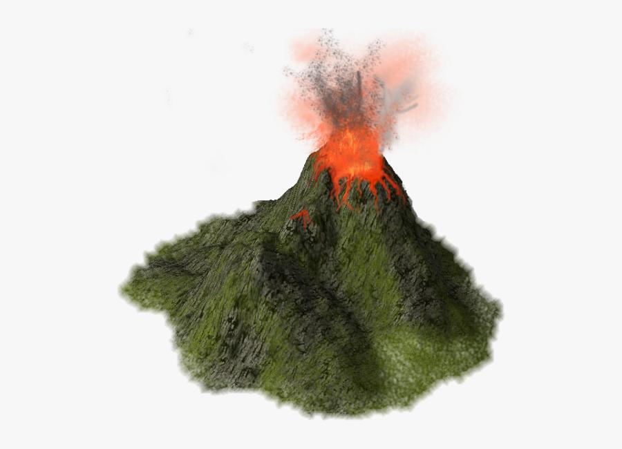Volcano High Quality Png - Erupting Volcano Transparent Background, Transparent Clipart