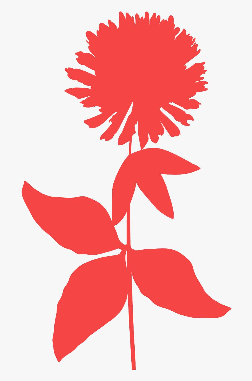 Transparent Flower Clover Flower Silhouette, Transparent Clipart