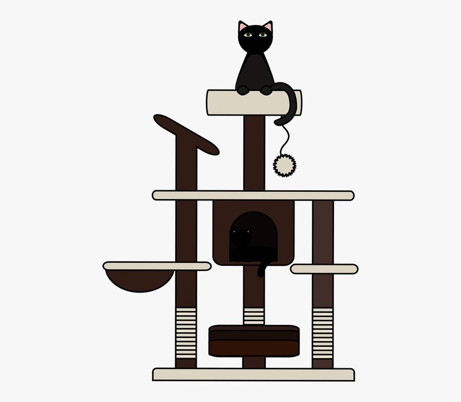 Graphic Cat Cat Tree - Cat Tree Png Vector, Transparent Clipart