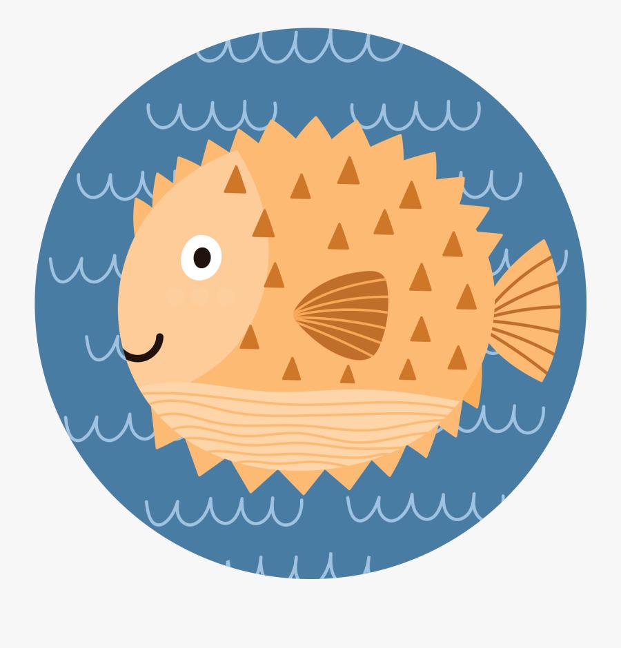 1083 Sea Cartoon - Cute Big Fish, Transparent Clipart
