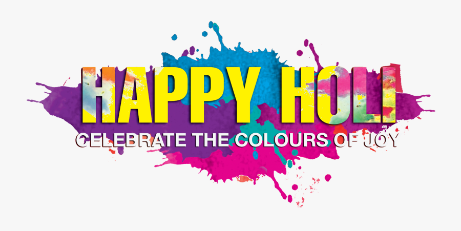 Happy Holi Png Background, Transparent Clipart