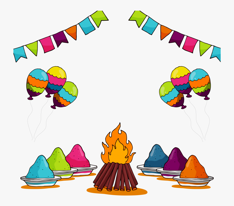 Holi, Transparent Clipart
