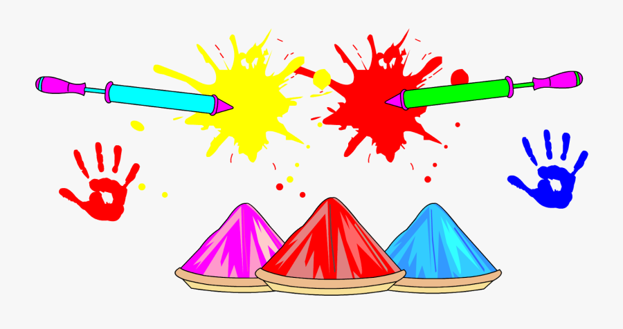 Holi In Month Of March, Transparent Clipart