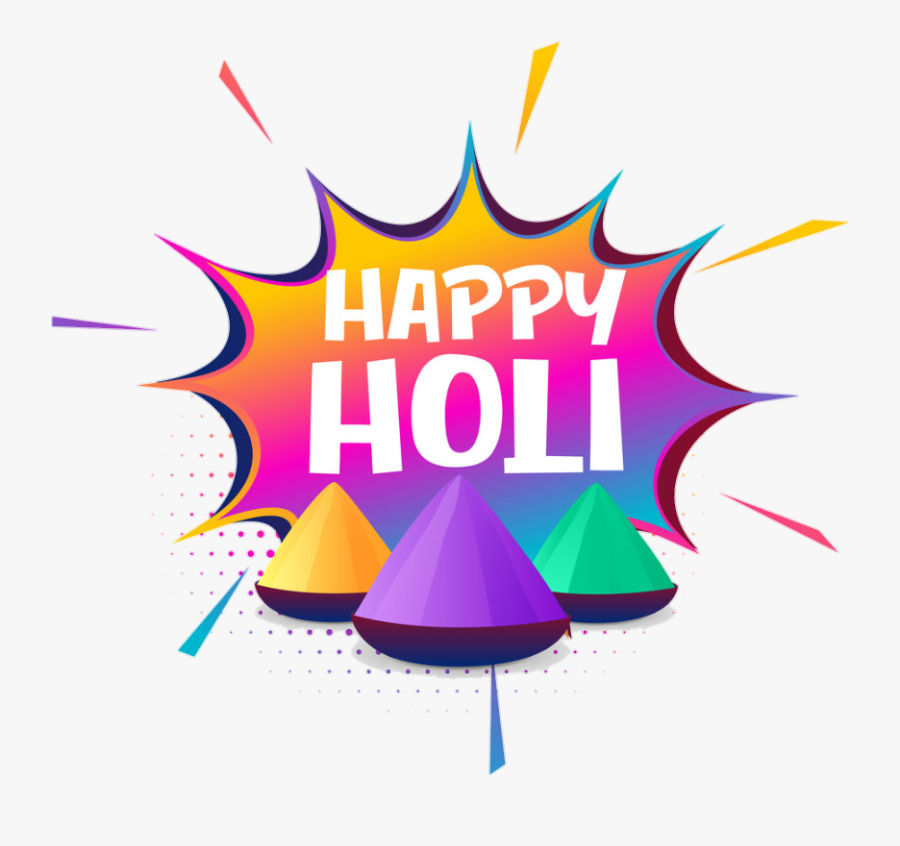 #holi - Happy Holi Text, Transparent Clipart