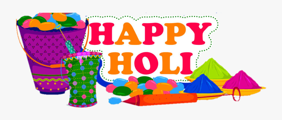 Happy Holi Logo Png, Transparent Clipart