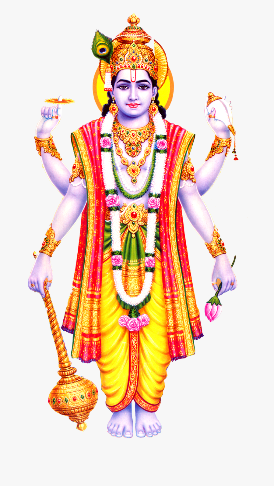 Vishnu Hindu God, Transparent Clipart