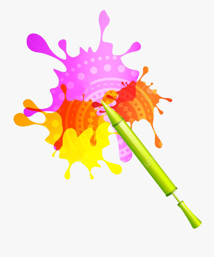 Holi Colour Png - Holi Pichkari In Png, Transparent Clipart