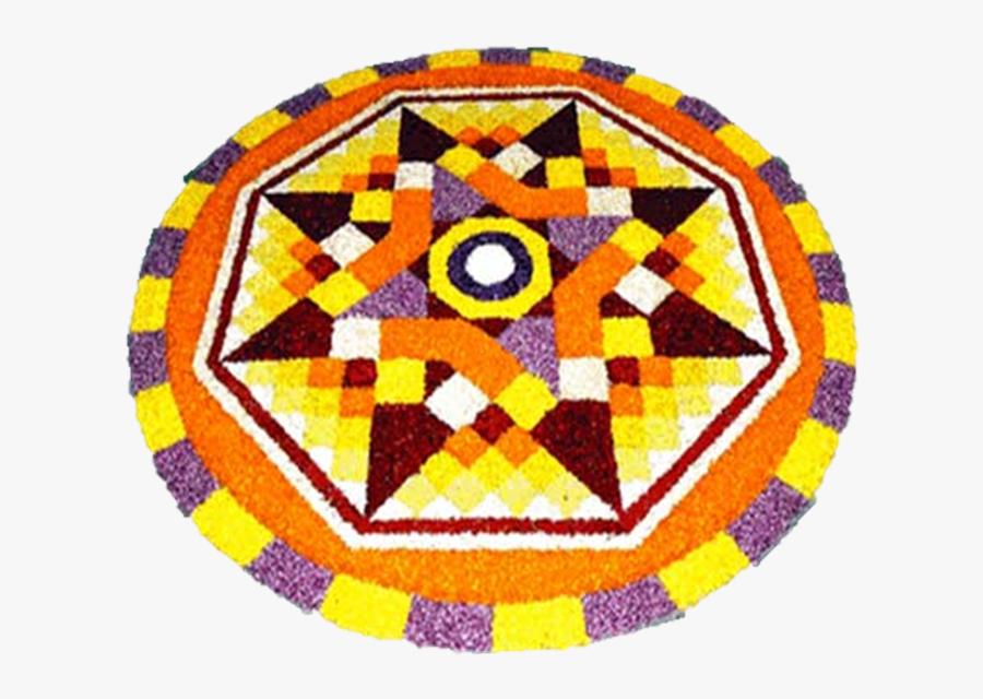 Festival Onam Diwali Holi Rangoli Free Transparent - Prize Winning Pookalam Designs Themes, Transparent Clipart