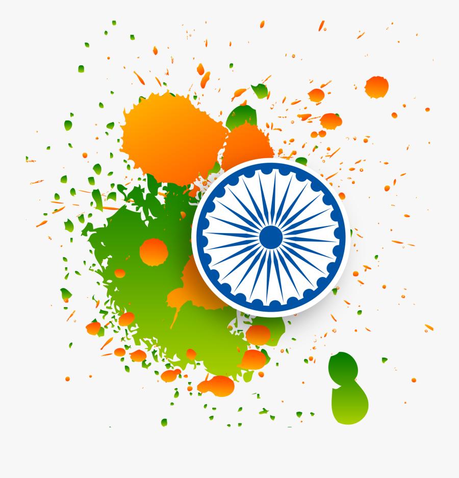 Holi Splash Png - India Map Flag, Transparent Clipart