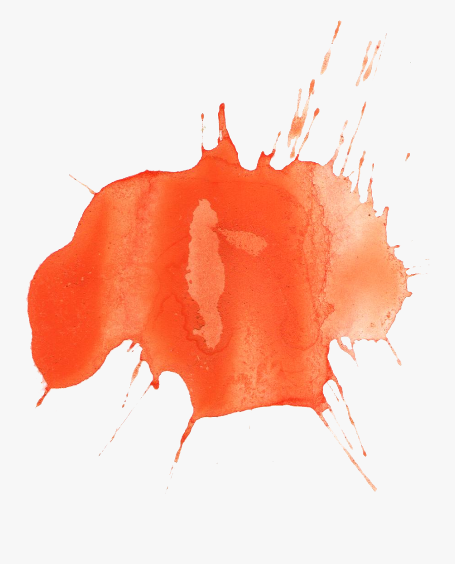 Colour Splatter Png - Orange Color Splash Png, Transparent Clipart