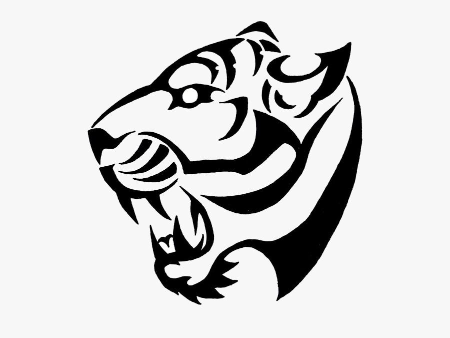 Tiger Pictures Tattoos Designs - Tiger Tattoo Simple Design, Transparent Clipart
