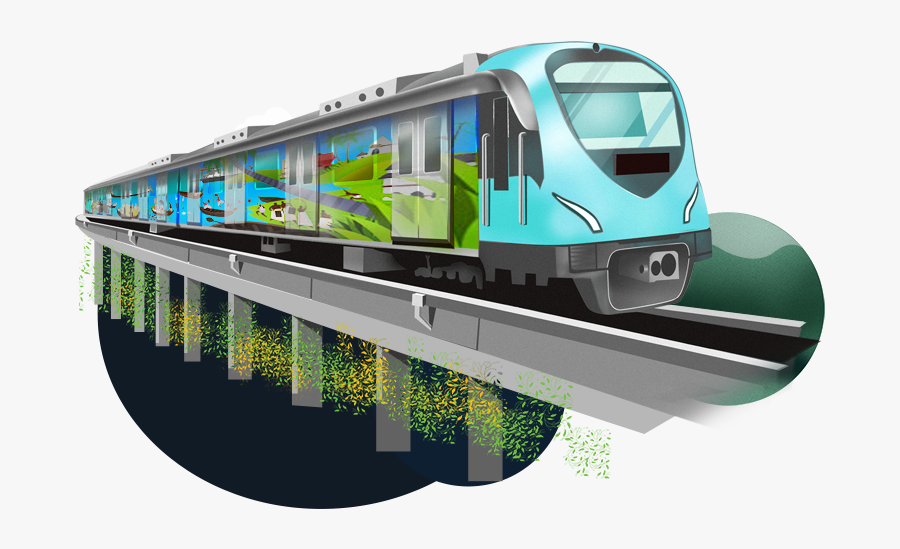 Clipart Train Commuter Train - Kochi Metro Train, Transparent Clipart