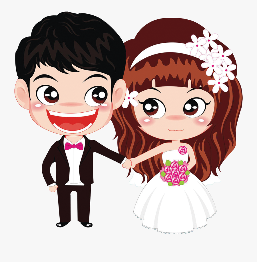 Transparent Indian Bride And Groom Clipart - Bride And Groom Chibi, Transparent Clipart
