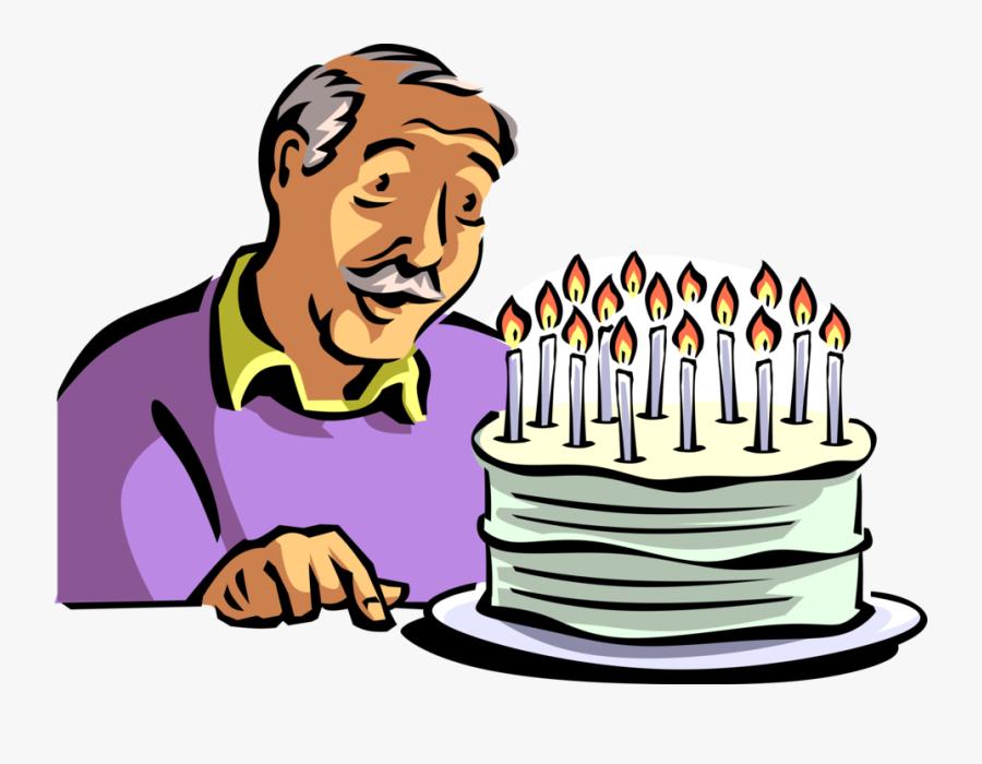 Transparent Birthday Cake Cartoon Png - Birthday Party Grandpa Clipart, Transparent Clipart