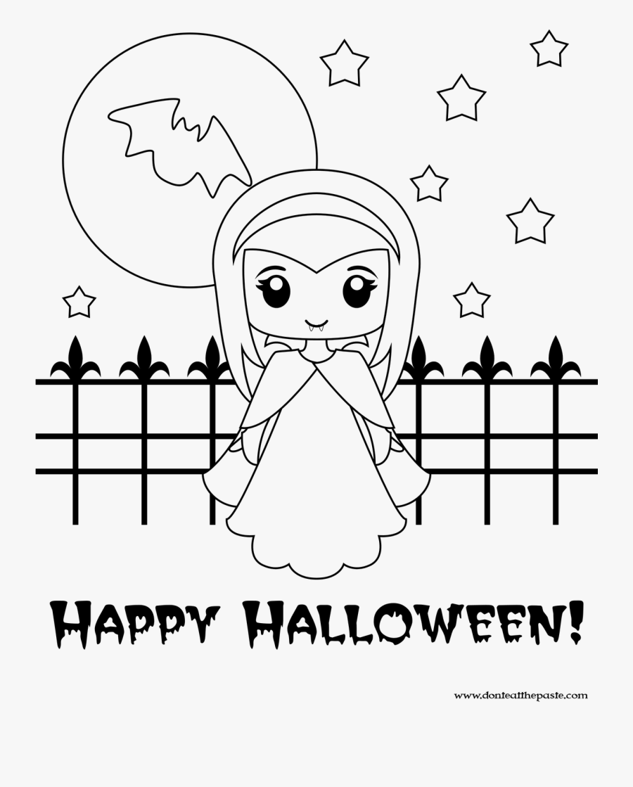 New Cute Halloween Coloring Pages 87 About Remodel Cute Girl Vampire Coloring Pages Free Transparent Clipart Clipartkey