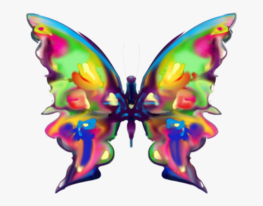 #mq #watercolor #butterfly #butterflys - Rainbow Butterfly, Transparent Clipart