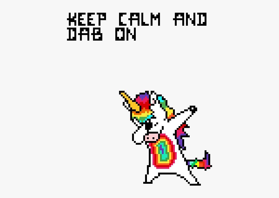 Dabbing Unicorn Pixel Art Grid Free Transparent Clipart