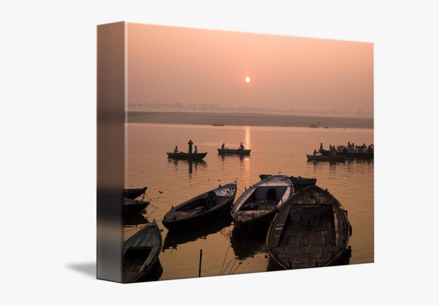 Clip Art River At Sunset - Reflection, Transparent Clipart
