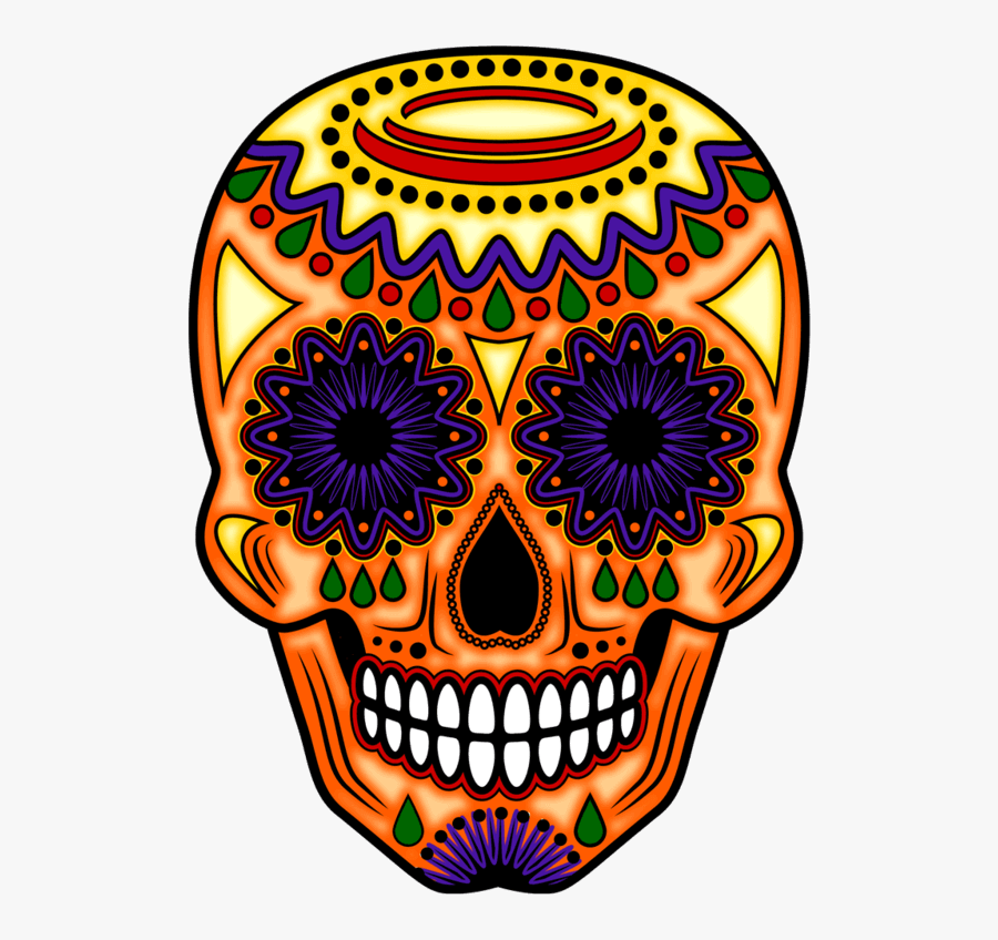 Day Of The Dead Orange, Transparent Clipart