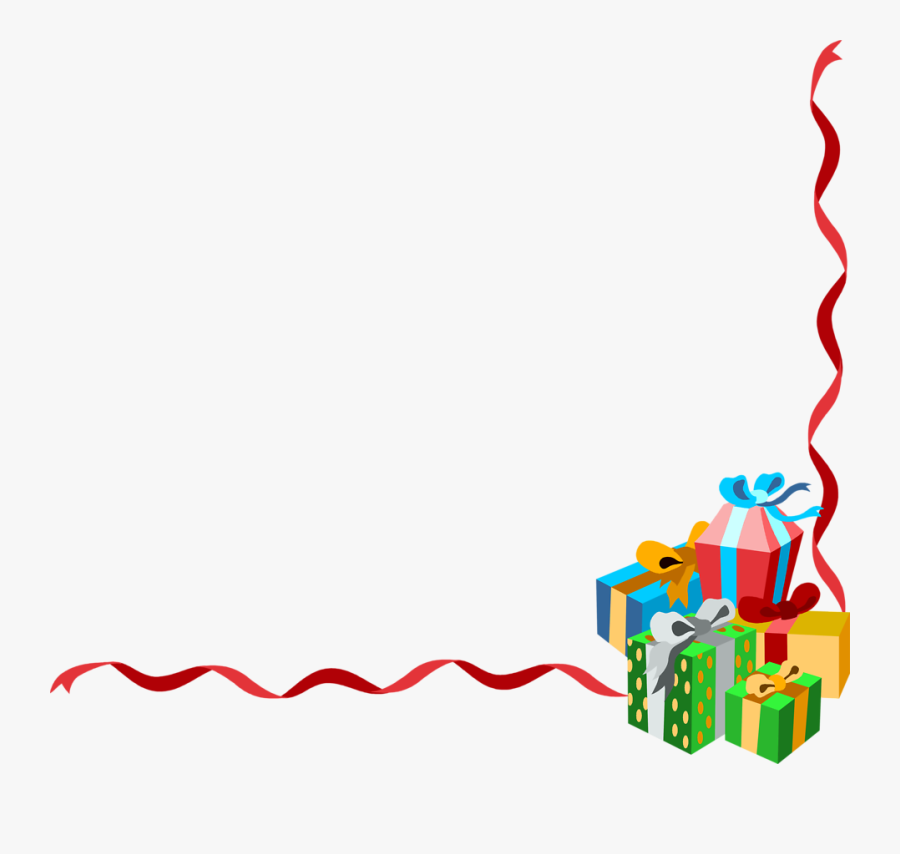 Christmas Presents Border Clipart - Transparent Christmas Border Clipart, Transparent Clipart