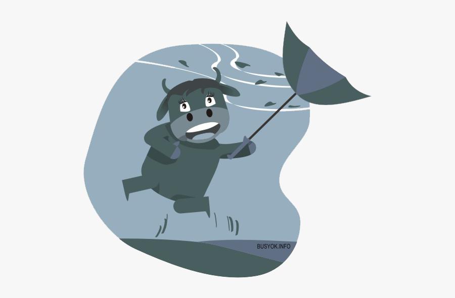 Vaca Na Chuva Engraçado, Transparent Clipart