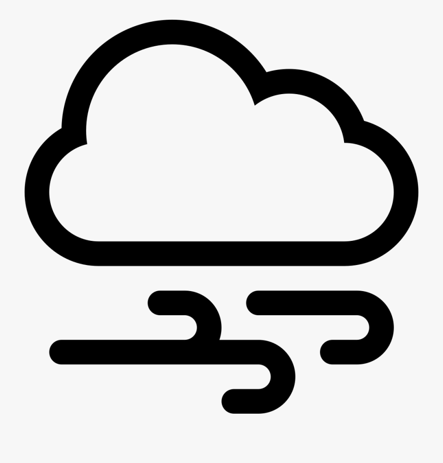 Windy Day With Cloud - Weather Forecast Snow Symbol, Transparent Clipart