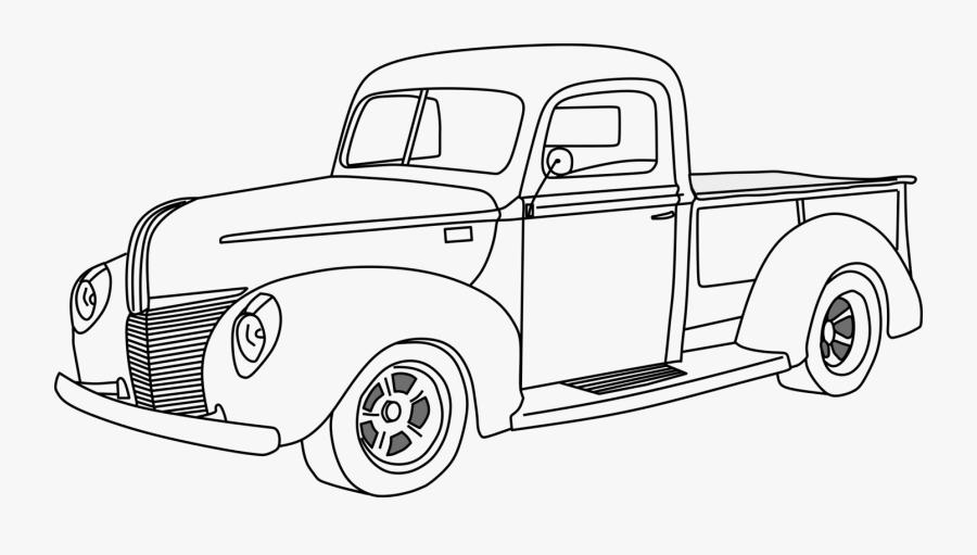 Classic Car,automotive Exterior,antique Car - Pickup Truck Transparent Drawing, Transparent Clipart