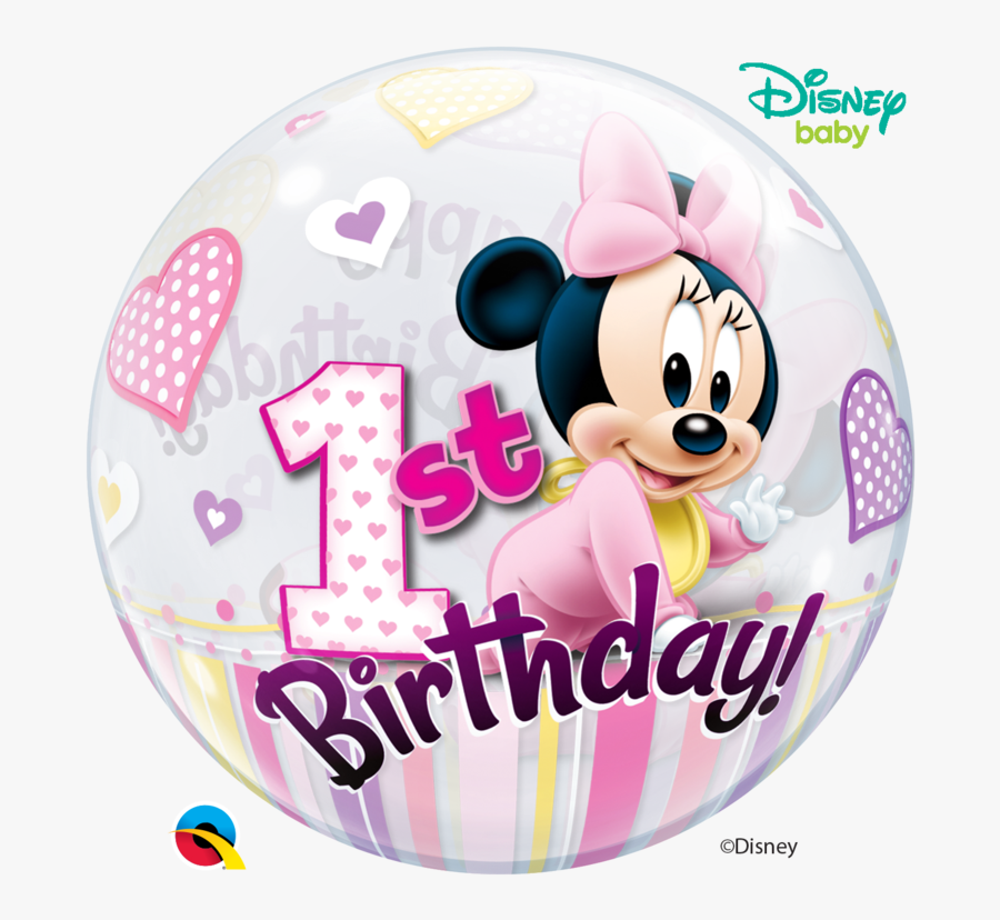 Disney Minnie Mouse 1st Birthday, Transparent Clipart