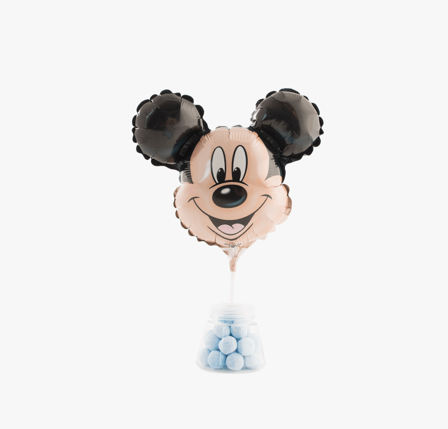Mickey Mouse Micro Foil Balloon - Mickey Mouse Head, Transparent Clipart