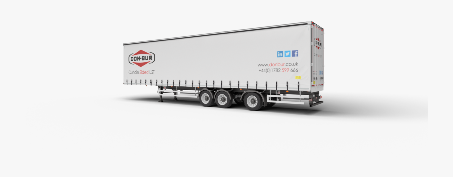 Curtainsided Longer Semi-trailer Open - Trailer Truck, Transparent Clipart
