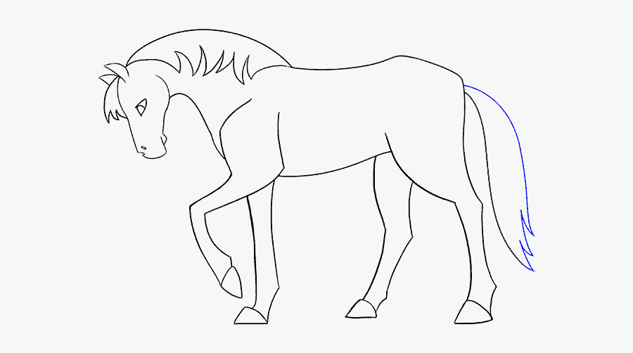 How To Draw Simple Horse - Horse Drawings Simple Head, Transparent Clipart