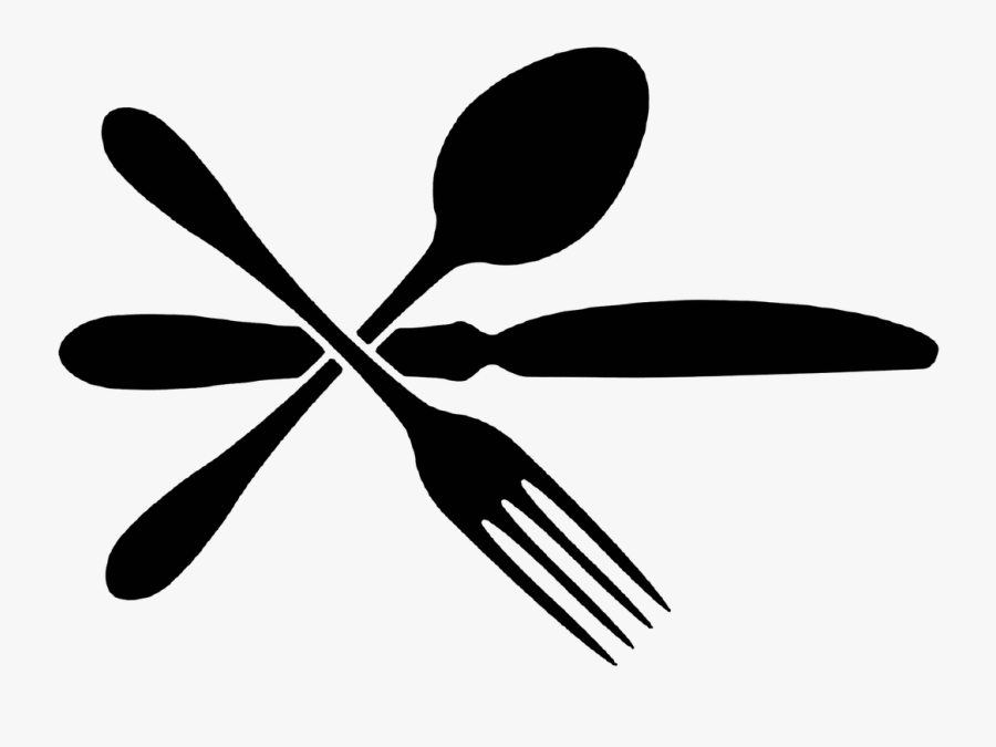 Service - Simple Food Clipart Black And White, Transparent Clipart