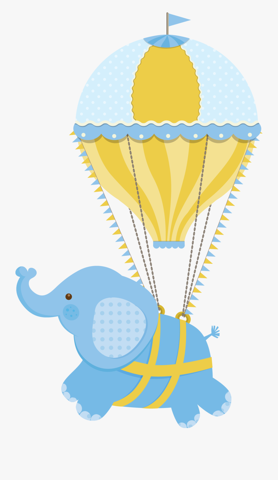 Elephant In Hot Air Balloon Clipart , Free Transparent ...