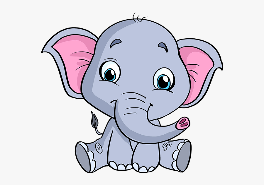 How To Draw Baby Elephant - Easy Baby Elephant Drawing, Transparent Clipart