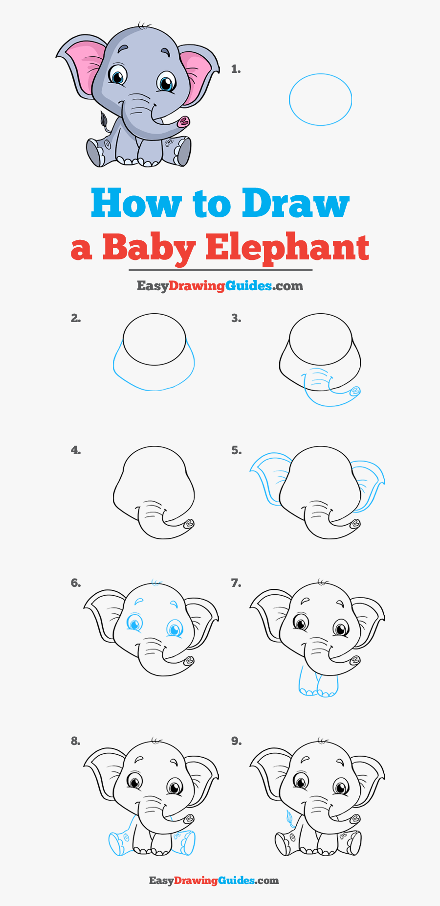 How To Draw Baby Elephant - Fortnite Drawing Easy Step By Step, Transparent Clipart