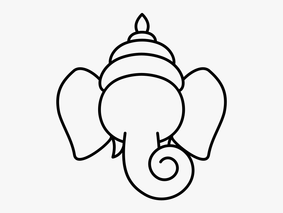 Transparent Ganesha Png Ganesh Line Art Drawing Free Transparent Clipart Clipartkey