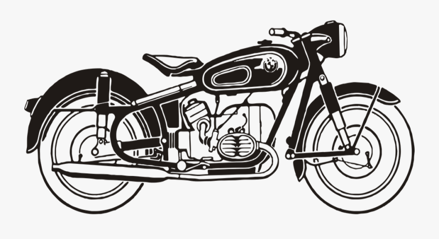 Collection Of Free Bullet Drawing Classic Download - Royal Enfield Outline Drawing, Transparent Clipart