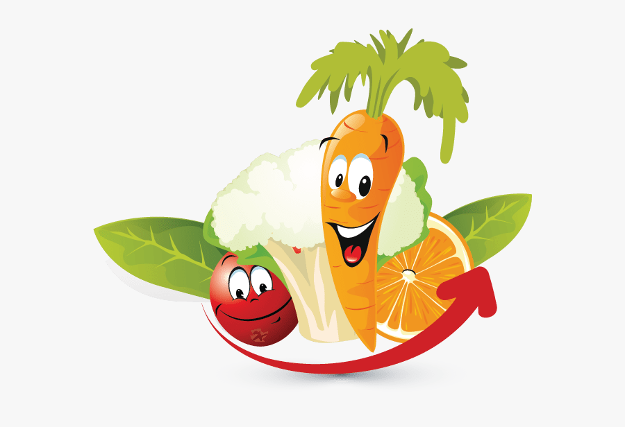 Fruits And Vegetables Animation , Png Download - Fruits And Vegetables Cartoon Png, Transparent Clipart