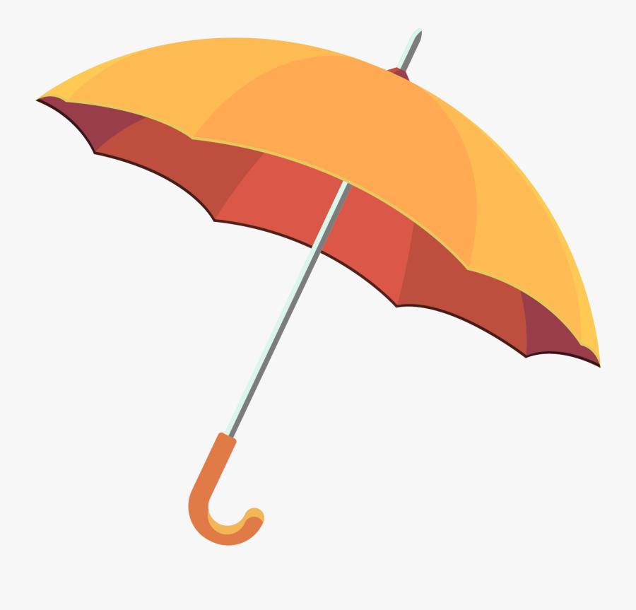 Transparent Closed Umbrella Clipart - Rain Umbrella Vector Free Download, Transparent Clipart
