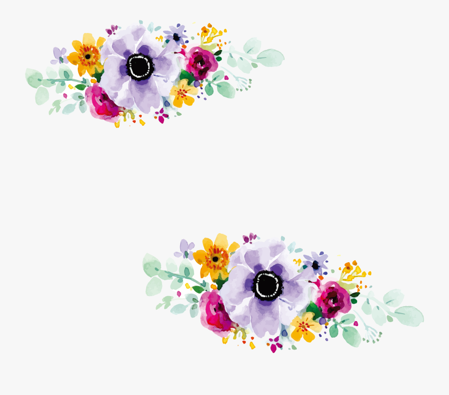 Clip Art Pictures Of Flowers Design - Flowers Design For Wedding Invitation, Transparent Clipart