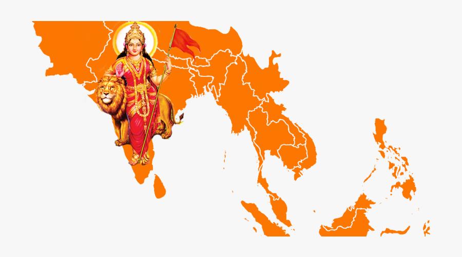 Party Bharatiya Janata Akhand Mata Hinduism Bharat - Akhand Bharat Mata, Transparent Clipart