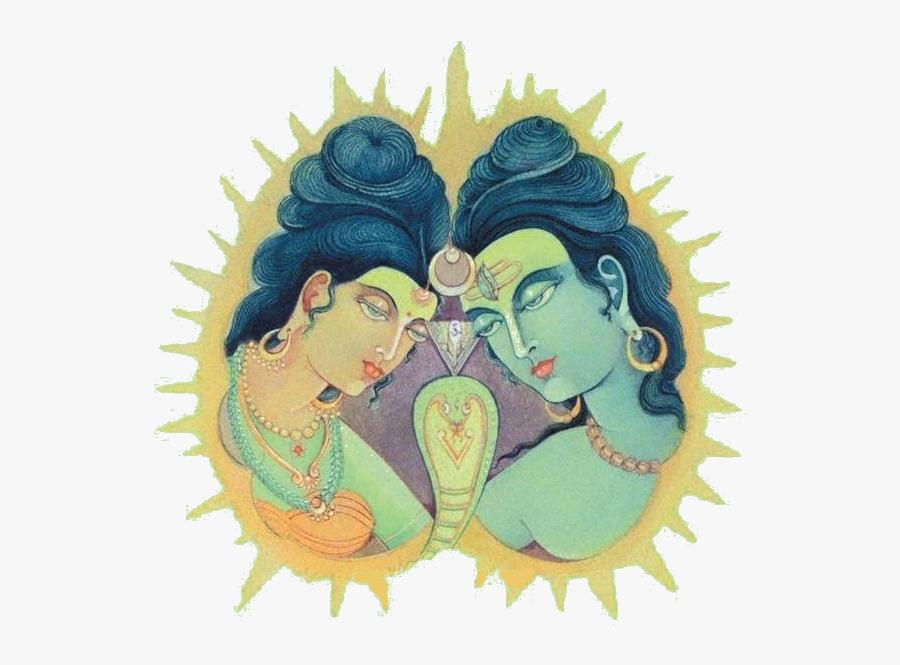 Shiva Shakti, Transparent Clipart