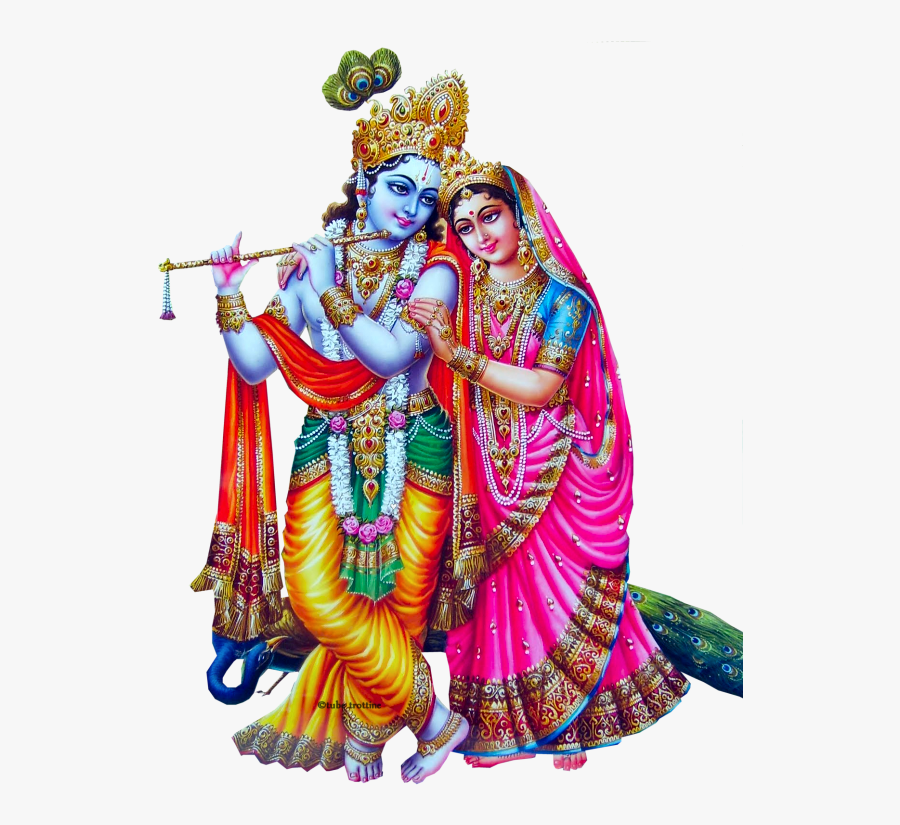 Krishna And Radha Together, Transparent Clipart