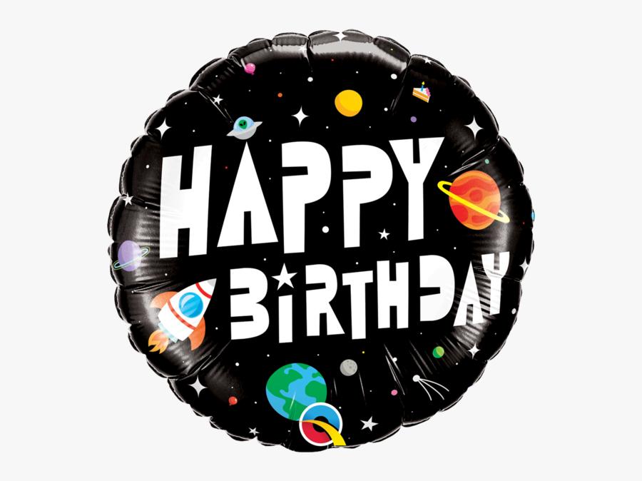 18 - Happy Birthday Man Spase, Transparent Clipart