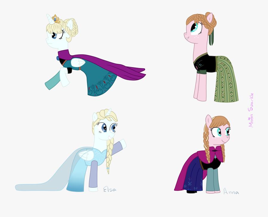 Request) Disney Frozen Elsa Y Anna (pony Version) By - Pony Elsa Y Anna, Transparent Clipart