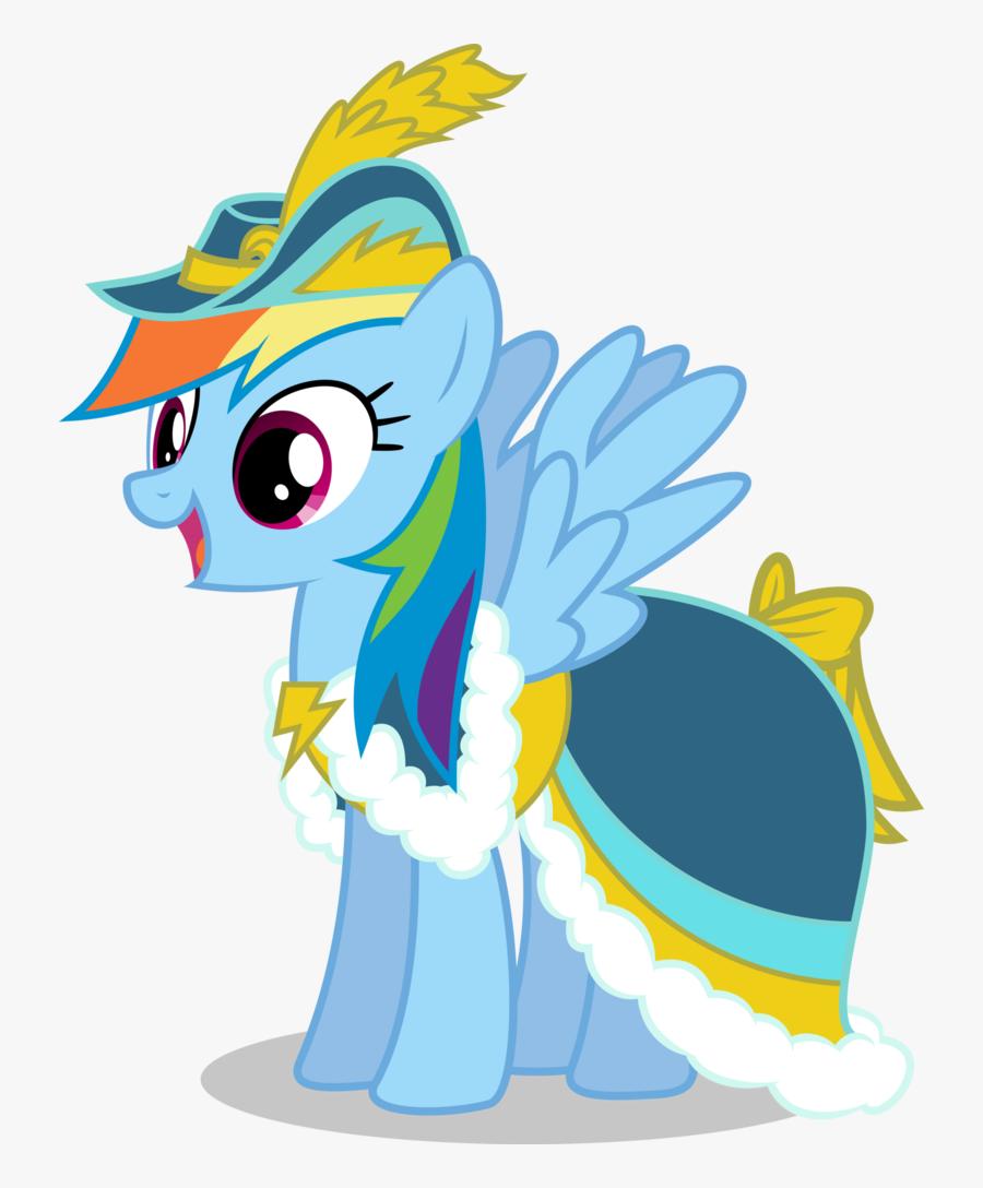 Mlp Wearing Dresses Creative - My Little Pony Rainbow Dash Dress, Transparent Clipart